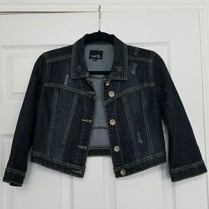 Denim jacket dark wash rue 21 sz. M